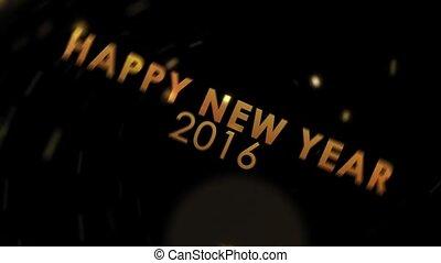 golden sparkling new year 2016 - golden explosion sparkling...