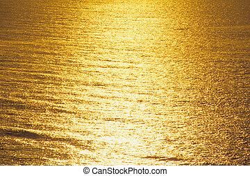 Golden sparkling Ocean