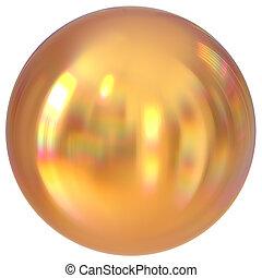 Golden sphere round button ball basic circle geometric shape