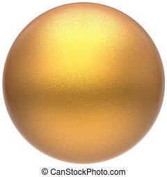Golden sphere round button ball basic matted yellow circle