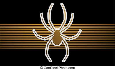 Golden spider background