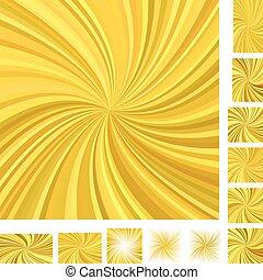 Golden spiral background set