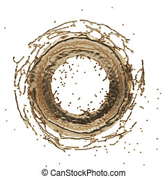golden splash radial 3d rendering 3d illustration
