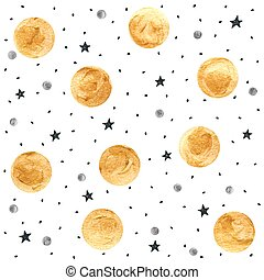 Golden spots background - Golden paint texture. Gold and...