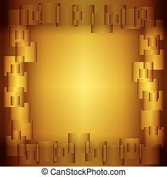 golden square background, vector illustration eps10