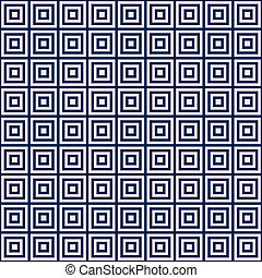 golden square on a blue background endless pattern