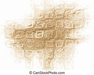 Golden square shaped background