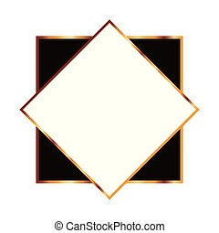 golden square with frame icon