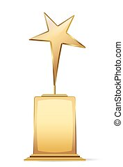 golden star award with space for text. vector illustration
