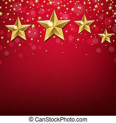 golden star border with red background
