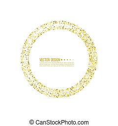 Abstract vector background with starry. - Golden star ...