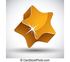 Golden star.