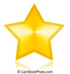 Golden Star - Golden star illustration isolated on white...