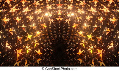 Golden Star Gate - Golden star gate video stage background....
