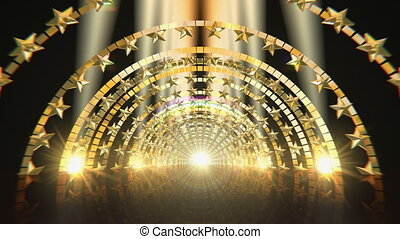 Golden Star Gate Stage