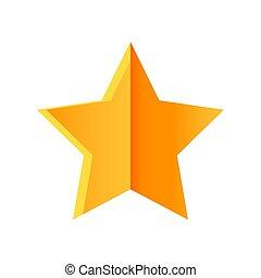 Golden star isolated on white background. vector illustration.