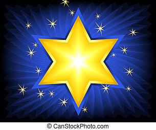 Golden Star Of David - Golden Star of David. Digital...