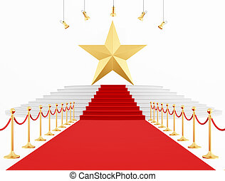 Golden Star on the top - Golden Star on the red carpet...