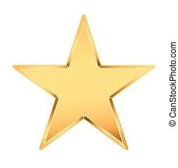 golden star on white. vector illustration