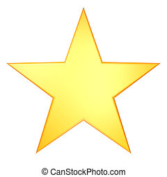 golden star render illustration