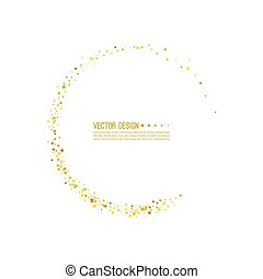 Abstract vector background with starry. - Golden star swirl...
