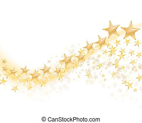 golden stars abstract background. vector illustration