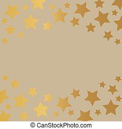 golden stars background- vector illustration