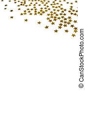 Golden Stars Christmas Background