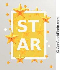 Golden stars design elements. Best of the concept.