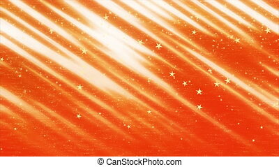 Golden stars falling on red background, New Year and...
