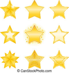 Golden Stars Icons