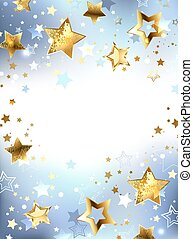 Golden stars on a light background