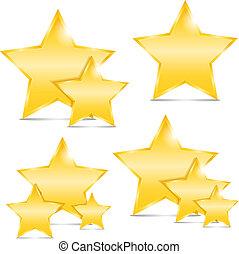 Golden stars, vector eps10 illustration