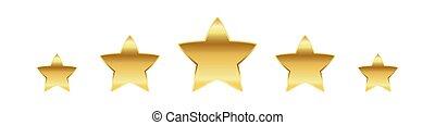 Golden stars. Vector illustration. - Five golden stars....