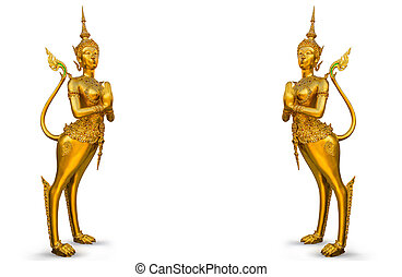 Golden statue at the Wat Phra Kaew