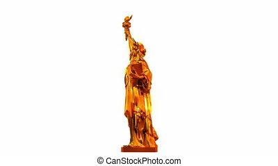 Golden Statue of Liberty