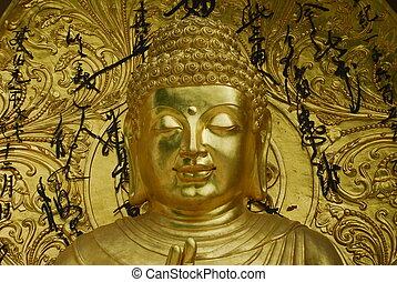 Golden statue of the Buddha