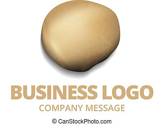 Golden Stone Nugget Business Logo