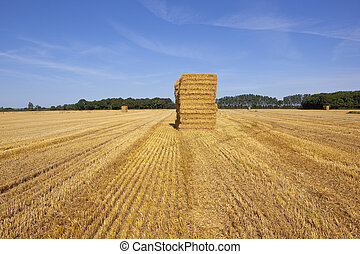 golden straw bales