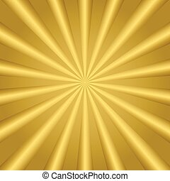 Golden striped background. Abstract golden sun rays pattern