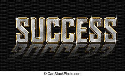 golden success letters