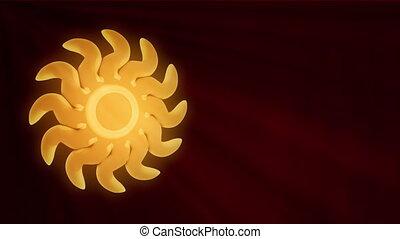 Golden Sun In Sparkle Shine