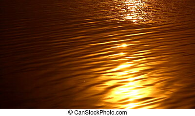 Golden sunset at sea with vibrant colors