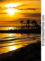 golden sunset beach portrait scene