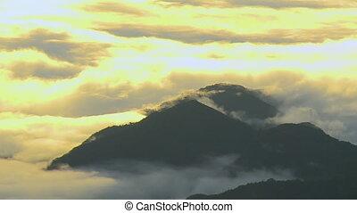 Golden Sunset Clouds, Andean Mountains, Peru - Medium...