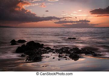 Golden Sunset Keawakapu Beach Maui