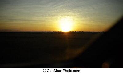 Golden sunset on a safari