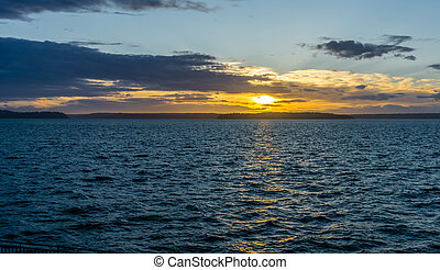 Golden Sunset Scene 2