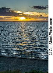 Golden Sunset Scene 3