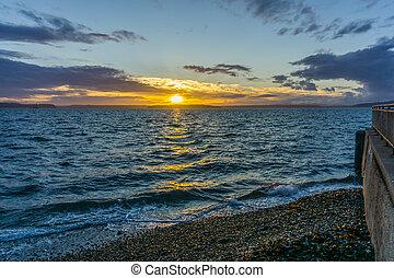 Golden Sunset Scene 5